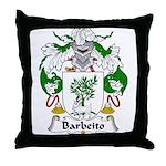 Barbeito Family Crest  Throw Pillow