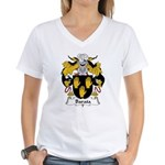 Barata Family Crest Women's V-Neck T-Shirt