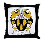 Barata Family Crest Throw Pillow