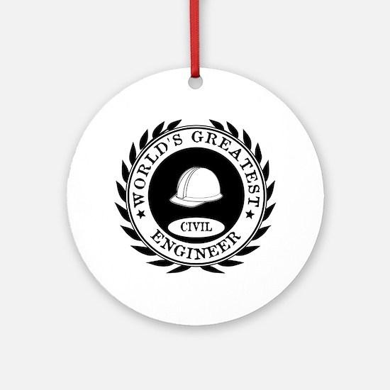 World's Greatest Civil Engineer Ornament (Round)