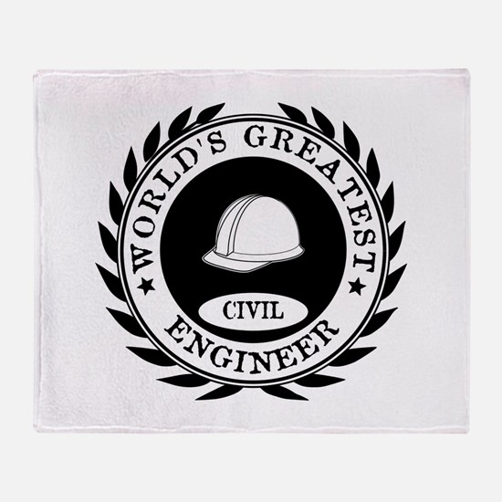 World's Greatest Civil Engineer Throw Blanket