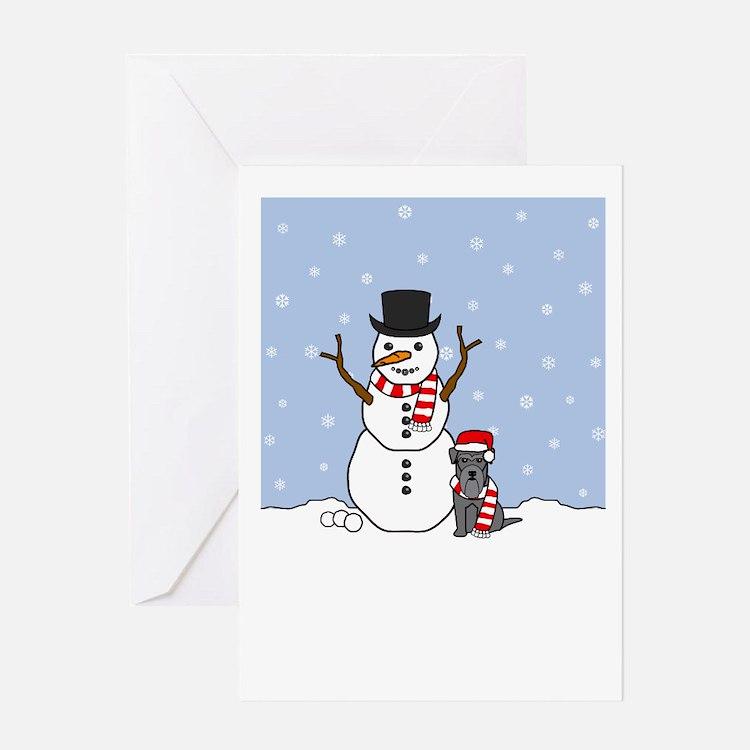 Mini Schnauzer Season's Greeting Card