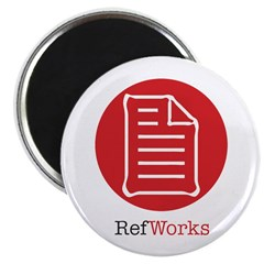 RefWorks Circle with Logo Magnet