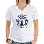 Baleato Family Crest Women's V-Neck T-Shirt
