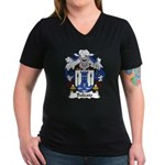 Baleato Family Crest Women's V-Neck Dark T-Shirt