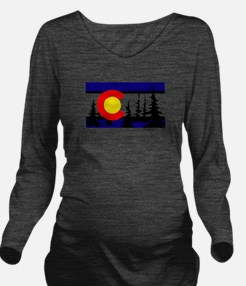 Colorado Trees2.png Long Sleeve Maternity T-Shirt