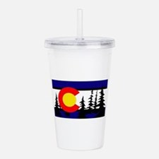 Colorado Trees2.png Acrylic Double-wall Tumbler