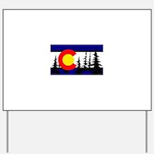 Colorado Trees2.png Yard Sign