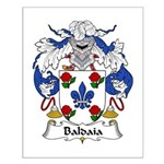 Baldaia Family Crest Small Poster
