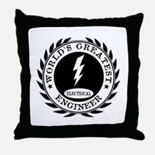 World's Greatest Electrical Engineer Throw Pillow