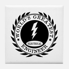 World's Greatest Electrical Engineer Tile Coaster