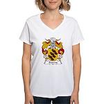 Bairros Family Crest Women's V-Neck T-Shirt