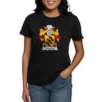 Bairros Family Crest Women's Dark T-Shirt