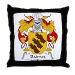 Bairros Family Crest Throw Pillow