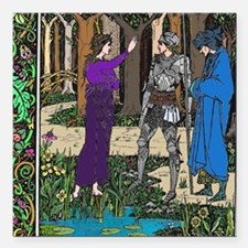 """Lady of the Lake Square Car Magnet 3"""" x 3"""""""