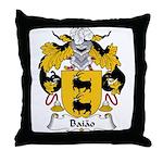 Baiao Family Crest Throw Pillow