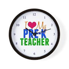 Pre-K Teacher Wall Clock