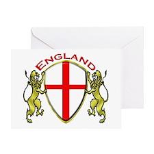 England Sheild Greeting Card