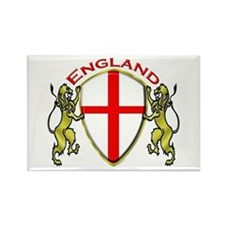 England Sheild Rectangle Magnet