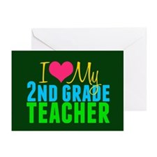 2nd Grade Teacher Greeting Cards (Pk of 20)