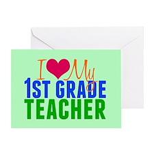 1st Grade Teacher Greeting Card