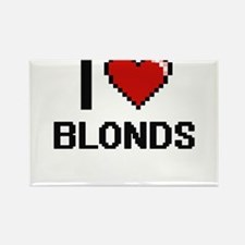 I Love Blonds Digitial Design Magnets