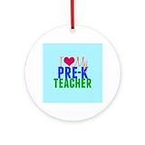 Pre k teacher Ornaments