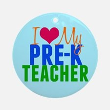 Pre-K Teacher Ornament (Round)