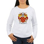 Azambuja Family Crest  Women's Long Sleeve T-Shirt