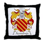Azambuja Family Crest  Throw Pillow
