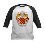 Azambuja Family Crest  Kids Baseball Jersey