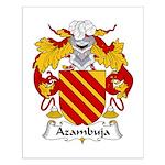 Azambuja Family Crest  Small Poster