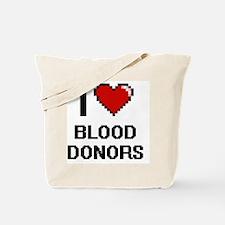 I Love Blood Donors Digitial Design Tote Bag