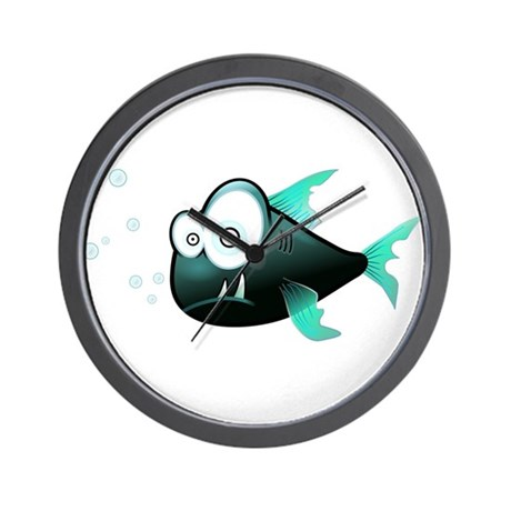 Piranha fish wall clock by admin cp79877276 for Fish wall clock