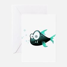 Piranha Fish Greeting Cards