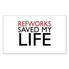 RefWorks Saved My Life Rectangle Decal
