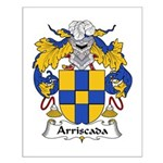 Arriscada Family Crest Small Poster