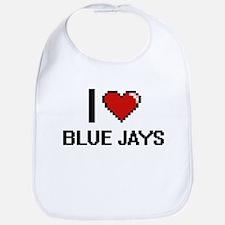 I Love Blue Jays Digitial Design Bib