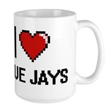 I Love Blue Jays Digitial Design Mugs