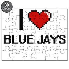 I Love Blue Jays Digitial Design Puzzle
