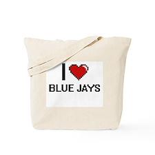 I Love Blue Jays Digitial Design Tote Bag