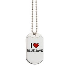 I Love Blue Jays Digitial Design Dog Tags