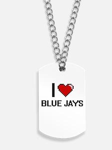I Love Blue Jays Digitial Design Dog Tags