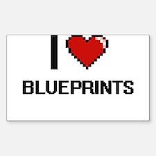 I Love Blueprints Digitial Design Decal