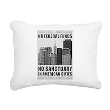 No Sanctuary Cities Rectangular Canvas Pillow