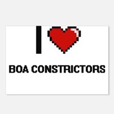 I Love Boa Constrictors D Postcards (Package of 8)