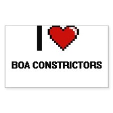 I Love Boa Constrictors Digitial Design Decal