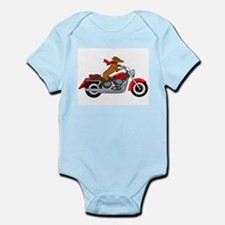 Dachshund on Motorcycle Body Suit