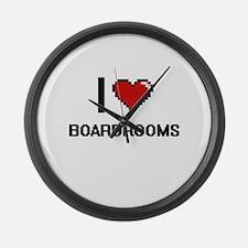 I Love Boardrooms Digitial Design Large Wall Clock