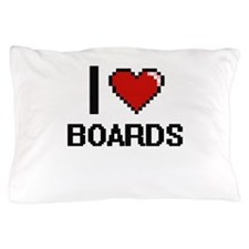 I Love Boards Digitial Design Pillow Case